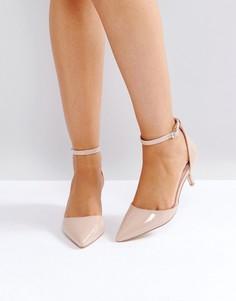 Лакированные туфли на каблуке-рюмочке RAID - Бежевый