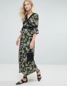 Платье макси с цветочным принтом Liquorish - Черный