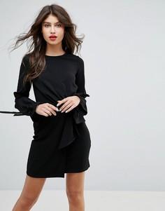 Платье мини с завязками ASOS - Черный