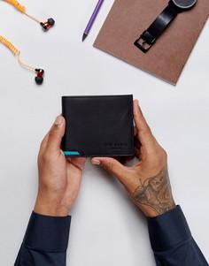 Черный кожаный кошелек для мелочи Ted Baker Corcoin - Черный