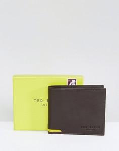 Коричневый кожаный кошелек для мелочи Ted Baker Corcoin - Коричневый