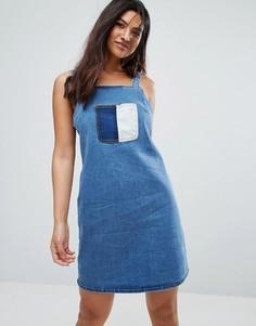 Платье в стиле пэчворк Glamorous - Синий