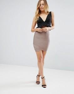 Бандажная юбка Glamorous - Бежевый