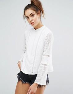 Белая кружевная блузка Minkpink - Белый