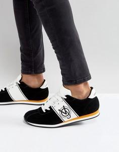 Черные кроссовки с логотипом Versace Jeans - Черный