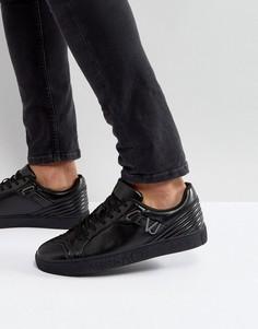 Черные кроссовки с логотипом на подошве Versace Jeans - Черный