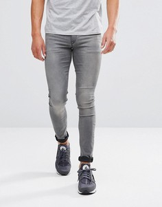 Серые выбеленные джинсы скинни ASOS - Серый