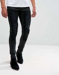 Черные байкерские джинсы скинни ASOS - Черный