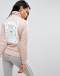 Куртка на молнии Adidas - Бежевый