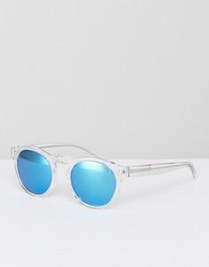 Круглые солнцезащитные очки в прозрачной оправе Levis - Очистить Levis®