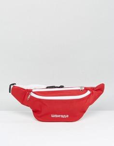 Красная сумка-кошелек на пояс с надписью на русском языке Granted - Красный