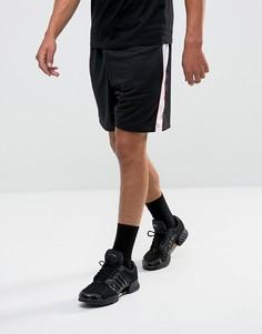 Черные шорты с сетчатыми вставками Granted - Черный