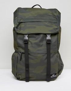 Рюкзак с отворотом и камуфляжным принтом Hollister - Зеленый