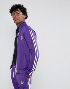 Фиолетовая спортивная куртка с полосками Jaded London - Фиолетовый