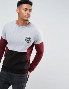 Серый свитшот с контрастными вставками Hype - Серый
