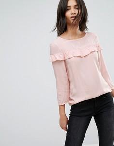 Блузка с оборкой JDY - Розовый