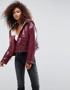 Куртка-дождевик с подкладкой из искуcственного меха ASOS - Коричневый