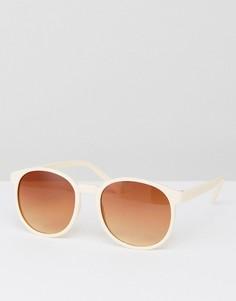 Бледно-розовые круглые солнцезащитные очки 7x - Розовый