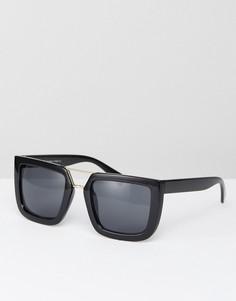Черные солнцезащитные очки в квадратной оправе 7x - Черный