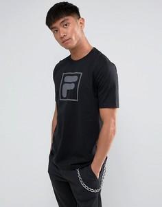 Черная футболка с большим логотипом Fila Vintage эксклюзивно для ASOS - Черный