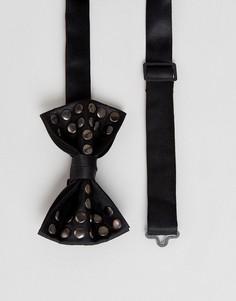 Галстук-бабочка с заклепками ASOS - Черный