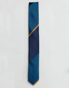 Галстук в широкую полоску ASOS - Синий
