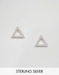 Серебряные треугольные серьги-гвоздики Kingsley Ryan - Серебряный