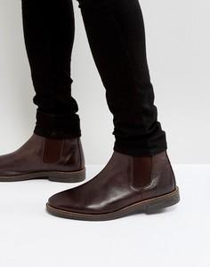 Коричневые кожаные ботинки челси Silver Street - Коричневый