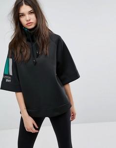 Черный свитер с высоким воротником adidas EQT - Черный