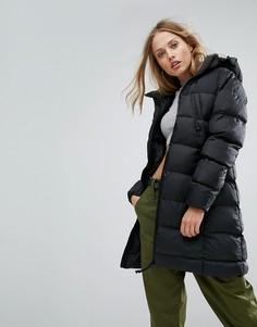 Длинное дутое пальто с капюшоном G-Star Whistler - Черный