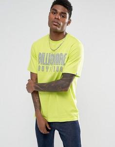 Желтая футболка со светоотражающим логотипом Billionaire Boys Club - Желтый