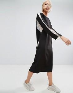 Платье с шифоновыми вставками ASOS WHITE - Черный
