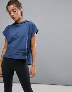 Темно-синий укороченный худи New Balance - Темно-синий