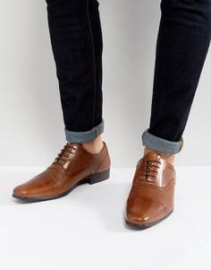 Светло-коричневые строгие туфли со шнуровкой Red Tape - Рыжий
