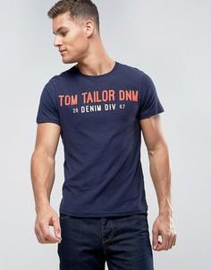 Футболка с принтом логотипа Tom Tailor - Синий