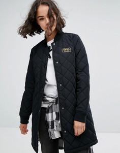 Удлиненное стеганое пальто Vans Boom Boom - Черный