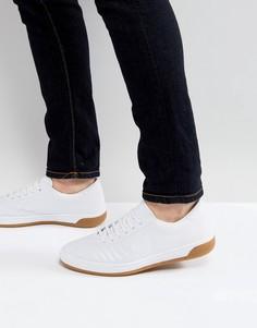 Белые кожаные кроссовки со стеганой отделкой Fred Perry B1 Sports Authentic - Белый