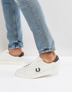 Белые кожаные кроссовки с контрастным логотипом Fred Perry Spencer - Белый