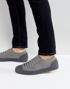 Серые водонепроницаемые парусиновые кроссовки Fred Perry - Серый
