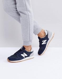 Синие замшевые кроссовки New Balance 520 - Черный