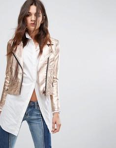 Золотистая байкерская куртка Blank NYC - Розовый