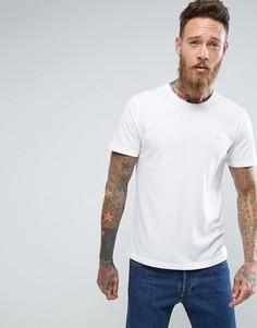 Белая зауженная футболка с круглым вырезом Abercrombie & Fitch - Белый