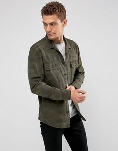Рубашка навыпуск с камуфляжным принтом Abercrombie & Fitch - Зеленый