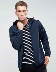 Темно-синяя легкая нейлоновая куртка с капюшоном Abercrombie & Fitch - Темно-синий