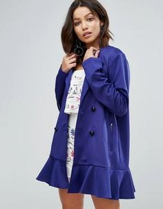 Двубортное пальто Paper Dolls - Синий