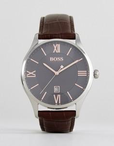 Часы с коричневым кожаным ремешком BOSS By Hugo Boss 1513484 Governor - Коричневый