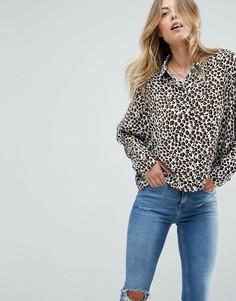 Блузка со звериным принтом ASOS - Мульти