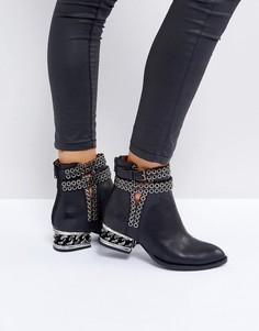 Ботинки с люверсами Jeffrey Campbell Belshaw - Черный