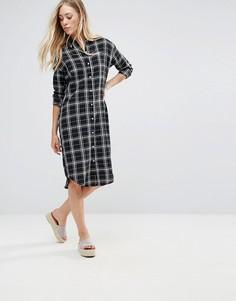 Платье-рубашка в клетку QED London - Черный