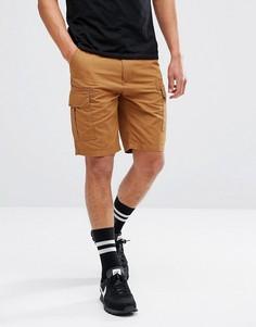 Светло-коричневые шорты карго Brooklyns Own - Светло-серый